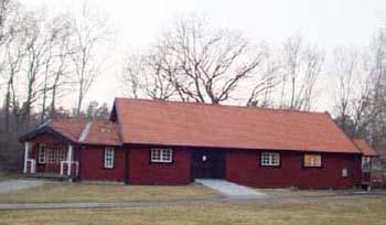 Byggnad vid trädgårdstorp