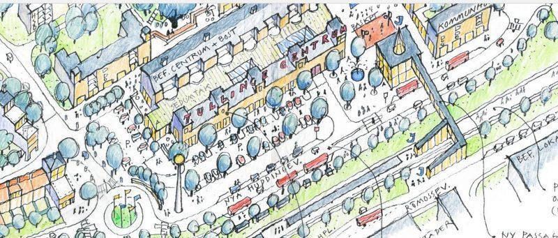 Så här skulle en ny uppgång till Tullinge station kunna se ut