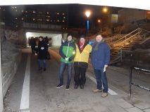 Carl, Dick och Michael delade ut flygblad från klockan 06.00.