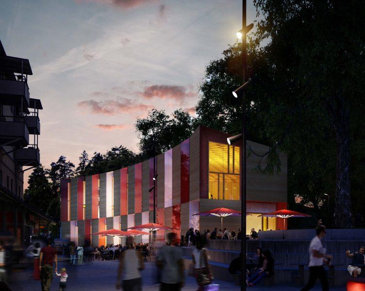 Så här är det tänkt att Idéhuset i Tullinge Centrum skall se ut. Källa: Botkyrka Kommun