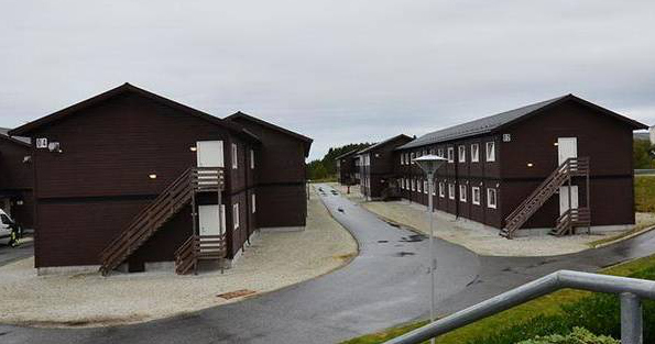 Så här kan modulhusen vid Brantbrink komma att se ut.  Foto: Ramirent